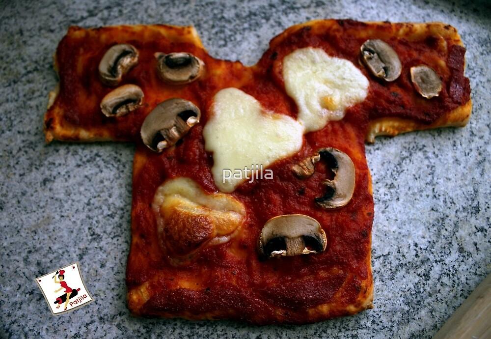 Pizza T-shirt OM NOM ^^ by patjila