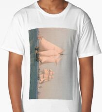 Ships under Sail in a Mild Breeze on a Clear Summer's Afternoon 1836 Christoffer Wilhelm Eckersberg Long T-Shirt