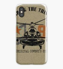American Army helicopter illustration  iPhone Case/Skin