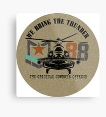 American Army helicopter illustration  Metal Print