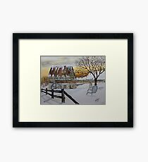 Sunset On The Old Mill Framed Print