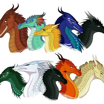Wings Of Fire All Together Unisex T Shirt By Thedragonreborn