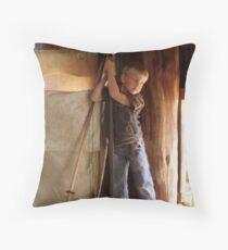 The shearer's son Throw Pillow