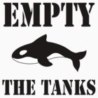 Empty the Tanks - white by TheVeganTaff