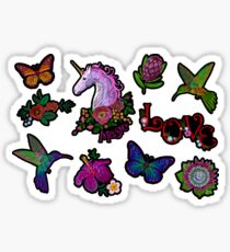 A set of small embroideries, stickers. Sticker