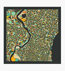 PHILADELPHIA MAP Photographic Print