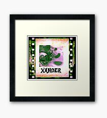 Xander - personalize your gift Framed Print