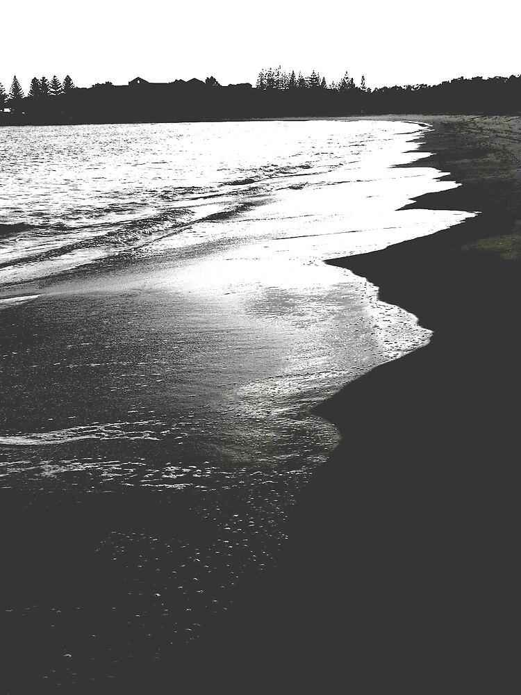 a line of beautiful beach by lauralock