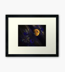 Abstract Space Framed Print