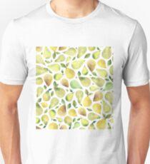 Watercolour Pears Pattern Unisex T-Shirt