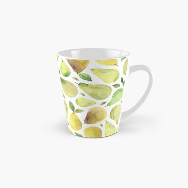 Watercolour Pears Pattern Tall Mug