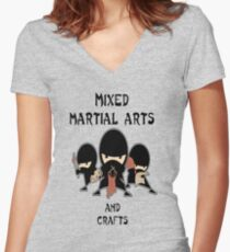 Mixed Martial Arts...and crafts Women's Fitted V-Neck T-Shirt