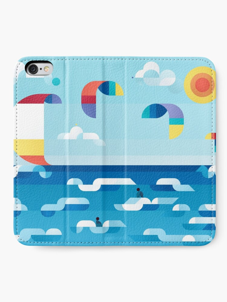 Alternate view of Kites dance iPhone Wallet