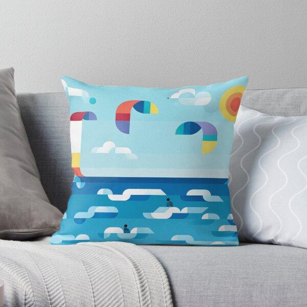 Kites dance Throw Pillow