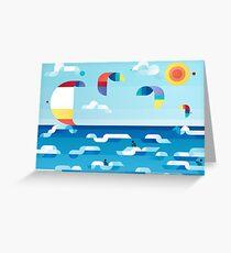 Kites dance Greeting Card