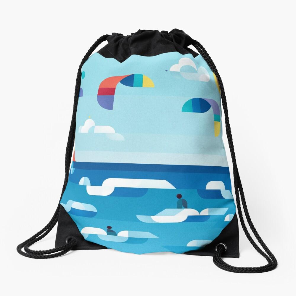 Kites dance Drawstring Bag