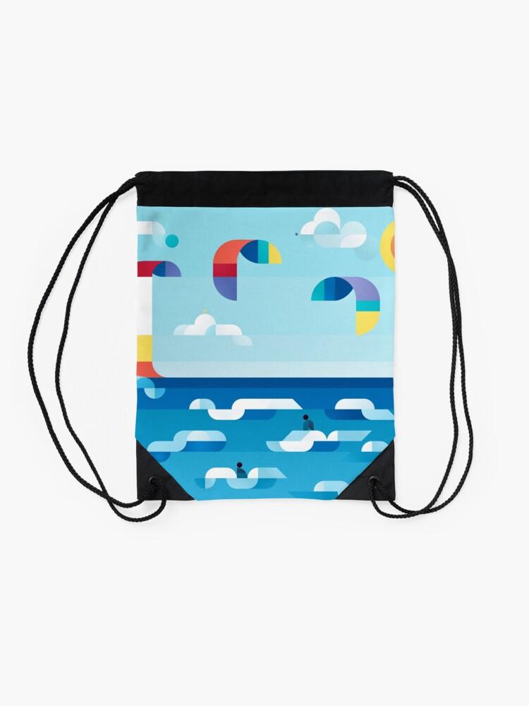 Alternate view of Kites dance Drawstring Bag