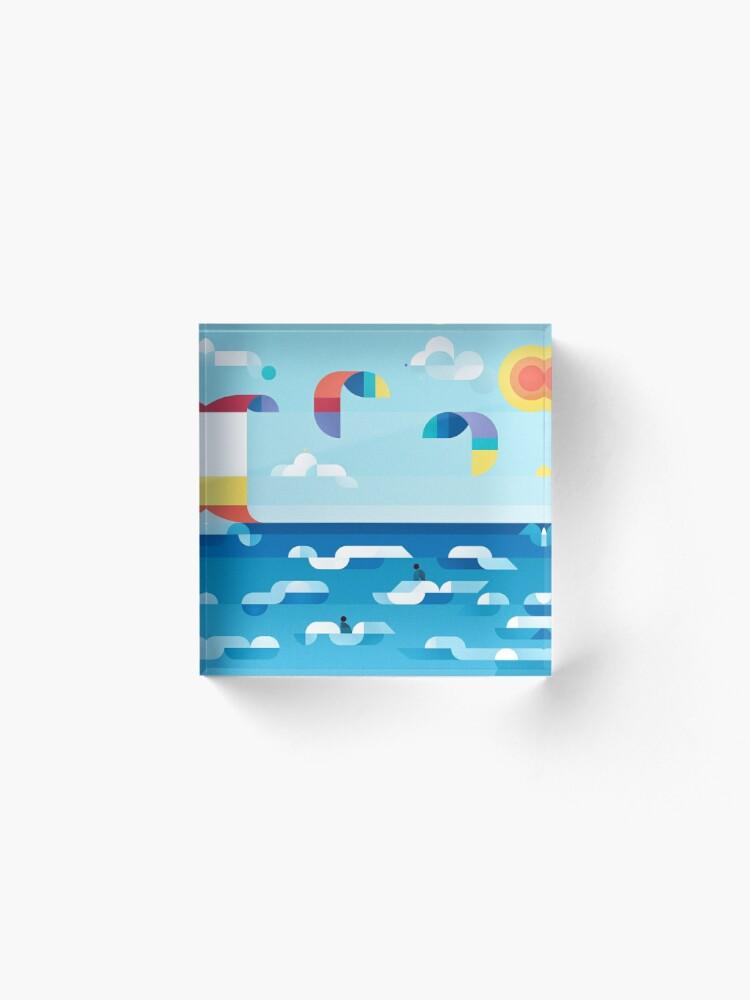 Alternate view of Kites dance Acrylic Block