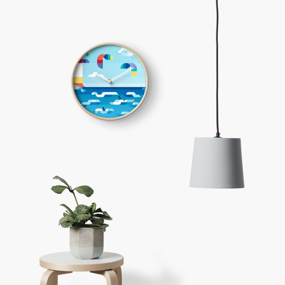 Kites dance Clock