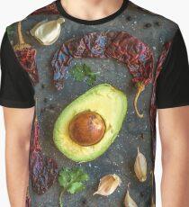 avocado, peppers, garlic and cilantro Graphic T-Shirt