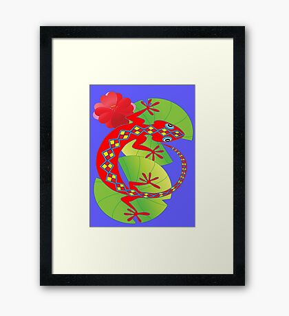 Connection to the Spirit World (Lizard)  Framed Print
