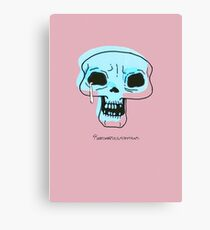 Skull Blink Canvas Print