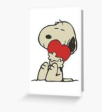 Snoopy love Greeting Card