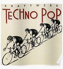 Kraftwerk Techno Pop 1983 Poster