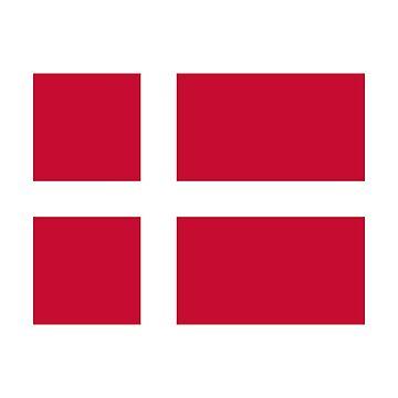 Denmark Flag - Danmark Fodbold DK Danish Sticker T-Shirt by deanworld