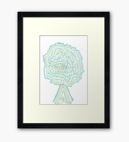 Azure & Gold Tree Framed Print