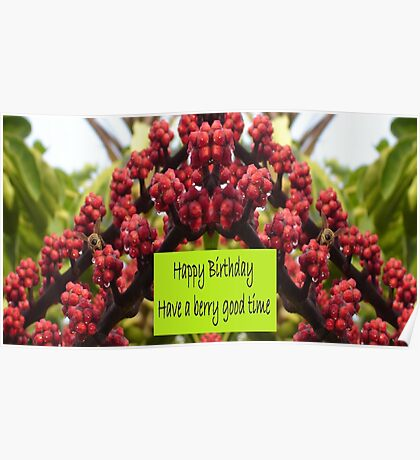 Have a Berry Good Birthday Poster