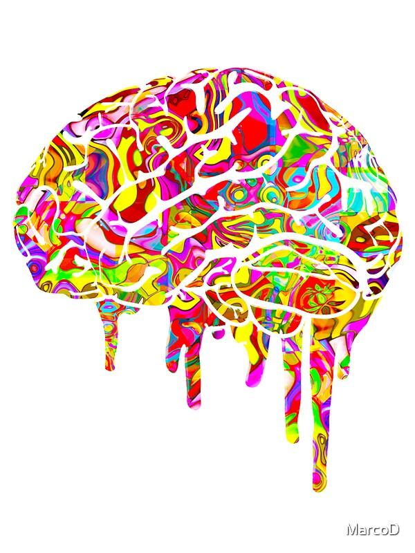 Quot Melting Brain Quot Stickers By Marcod Redbubble