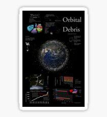 Space Infographic - Orbital Debris Sticker