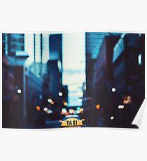 New York Cab Poster