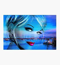 Blue Eyes Blue Photographic Print