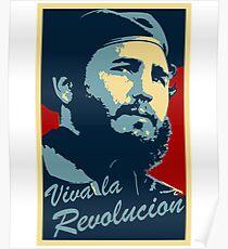 fidel castro poster Poster