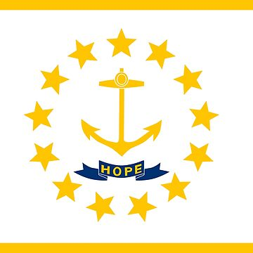 Flag of Rhode Island by Countries-Flags