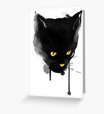 sumi cat Greeting Card