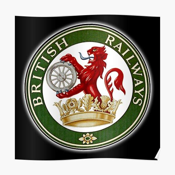BRITISH RAILWAYS. BR, SIGN, Trains, Train Spotters, Railwayana, Circular variant, 1956 logo. Poster