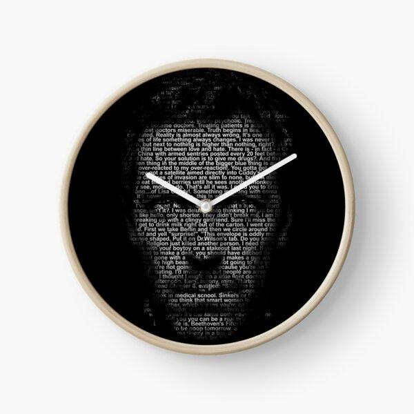 Maison MD faite avec du texte Horloge
