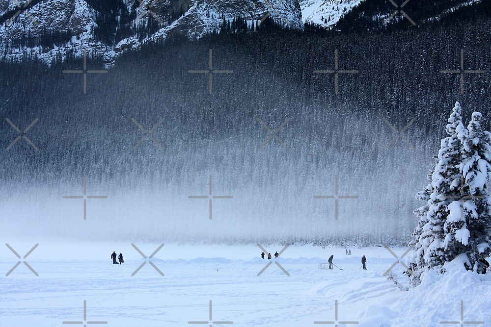 Hockey on Lake Louise by Alyce Taylor