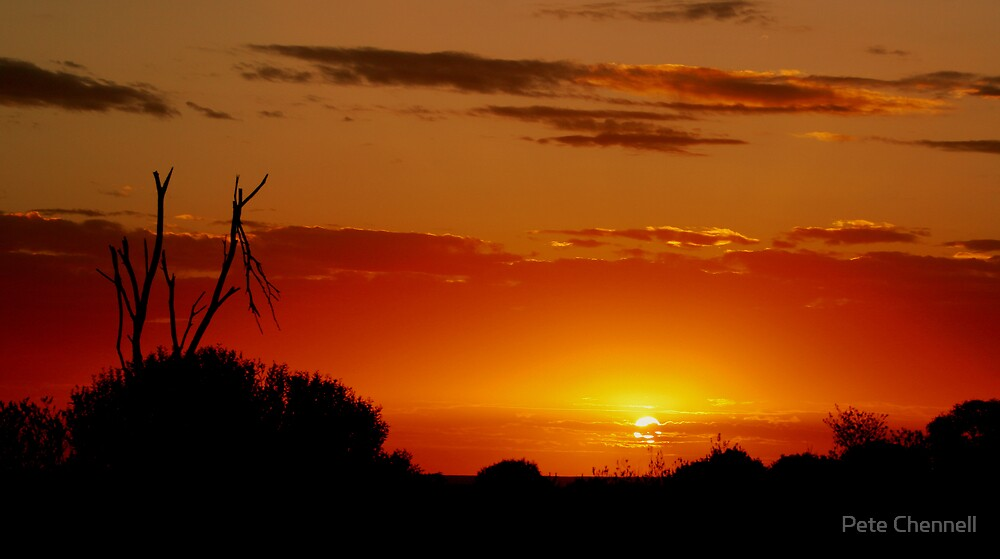 Red sundown by Pete Chennell