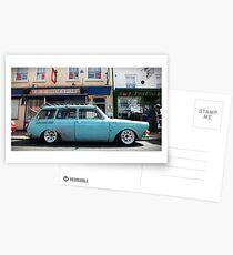 Slammed VW Type 3 Squareback Postcards