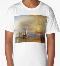 TURNER, The Fighting Temeraire, 1839, by Joseph Mallord William Turner. on White Long T-Shirt
