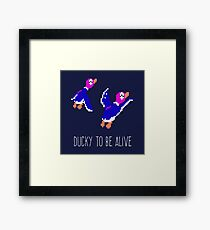 Ducky to be alive Framed Print