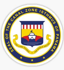 Seal of the Canal Zone Isthmus of Panama Sticker