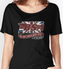 Retro BSA Motorcycle Women's Relaxed Fit T-Shirt