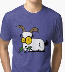 funny goat Tri-blend T-Shirt