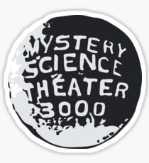 MST3K Silhouette within Globe Sticker