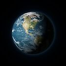 Planet Earth from space by Colin Cramm
